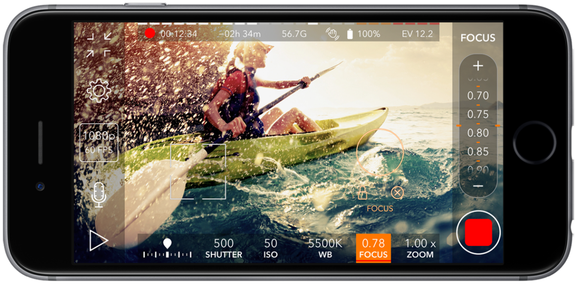 Promovie Recorder Video Camera App With Manual Control For Ios Devices